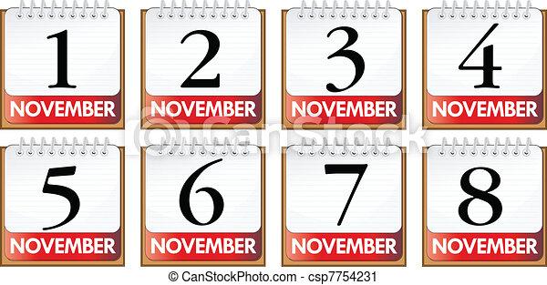 November diary - csp7754231