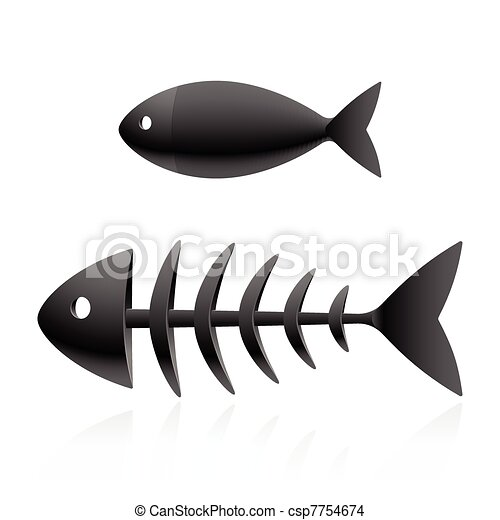 Fish skeleton - csp7754674