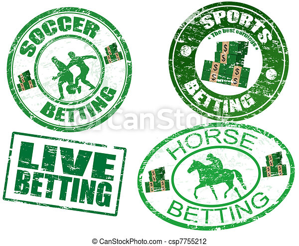 Set of  betting stamps - csp7755212