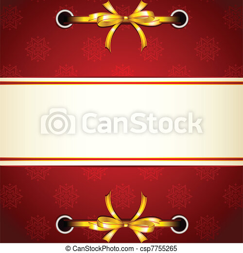 Ribbon tied in Christmas Wallpaper - csp7755265