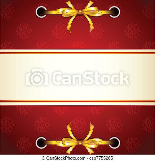 Ribbon tied in Christmas Wallpaper - csp7755265