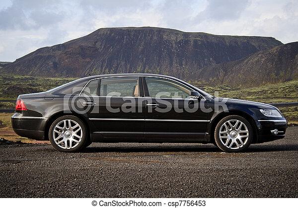 sedan, Cadre, noir,  Business - csp7756453