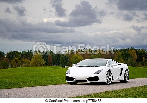 Supercar in golf club - csp7756458