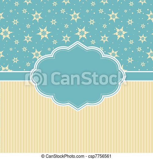 Retro Christmas Background - csp7756561