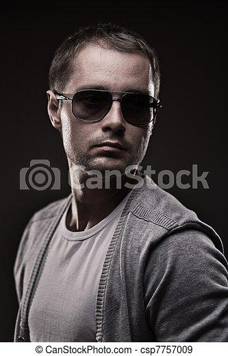 Young man acting - csp7757009