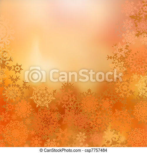 Warm christmas background with baubles . EPS 8 - csp7757484