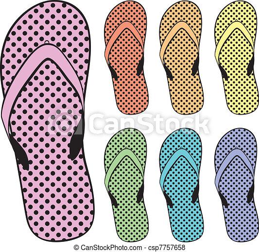 flip flops clipart - csp7757658