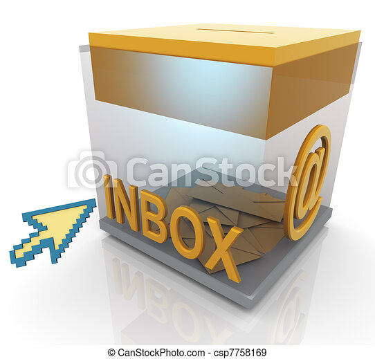 3d inbox and mouse pointer - csp7758169