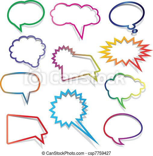 Speech bubbles collection - csp7759427