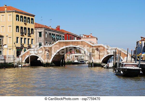 Stone bridge, Venice - csp7759470