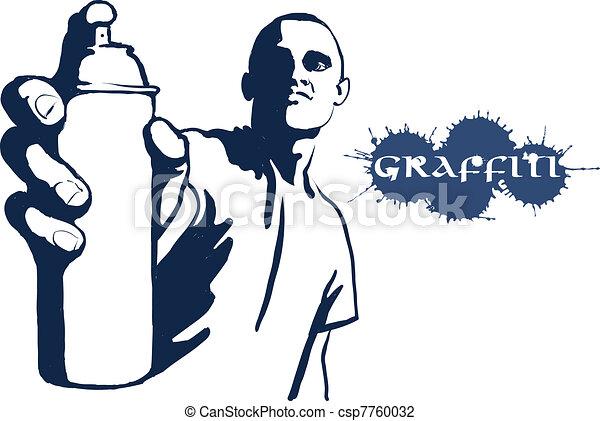 Hip hop graffiti spray can - csp7760032