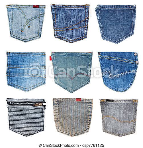 jeans pocket isolated  - csp7761125