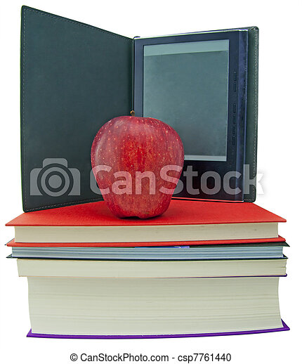 Apple, books and ebook reader - csp7761440