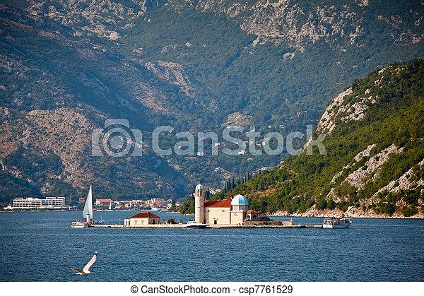 Saint George island, Montenegro - csp7761529