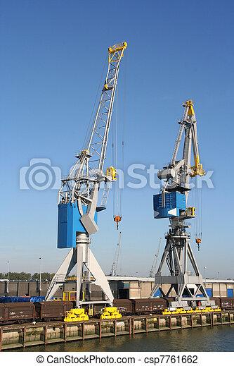 Harbor Cranes - csp7761662