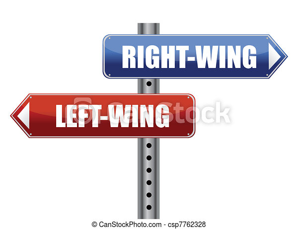left and right wing sign - csp7762328