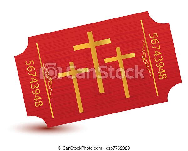 Religious event ticket illustration - csp7762329