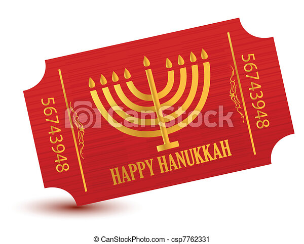 Happy hanukkah event ticket  - csp7762331