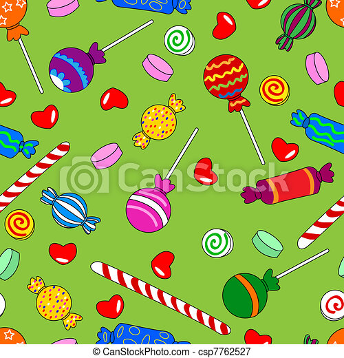Seamless candy pattern - csp7762527