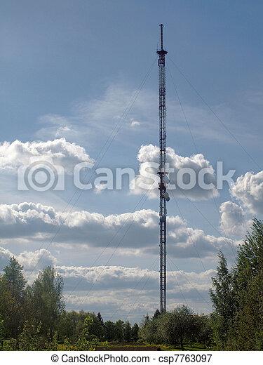 Viesintos broadcasting tower - csp7763097