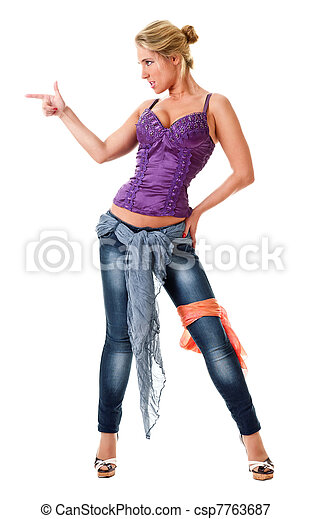 provocative portrait of a young woman  - csp7763687