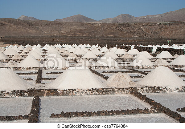 Salt piles on a saline exploration - csp7764084