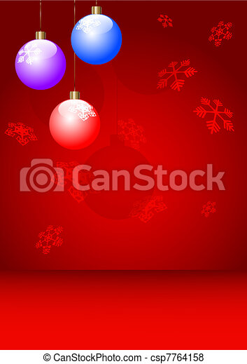 new year postcard, xmas card - csp7764158
