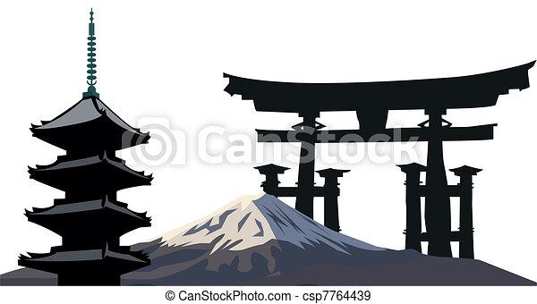 Japanese Landmarks - csp7764439