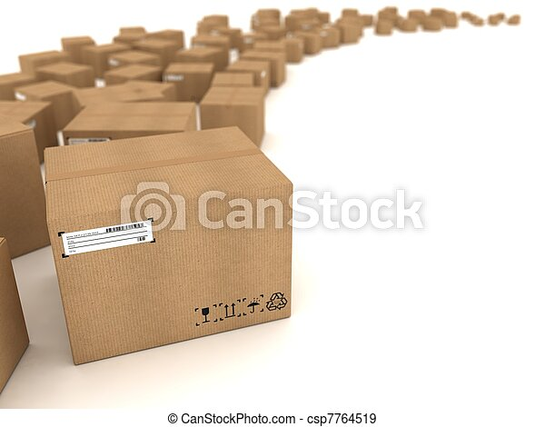 Cardboard boxes - csp7764519