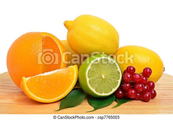 Citrus fruits and cranberry - csp7765003