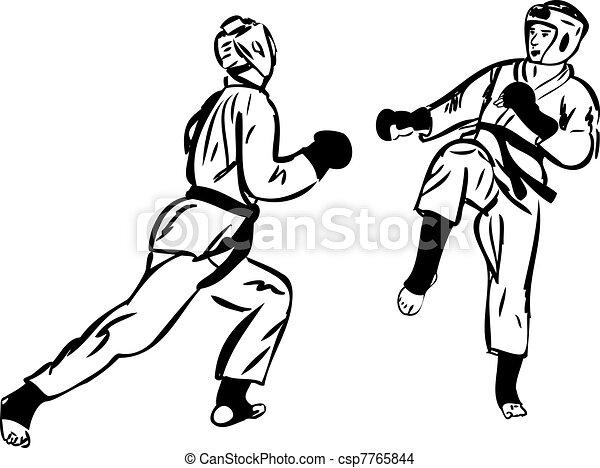 Karate Kyokushinkai  martial arts  sports - csp7765844