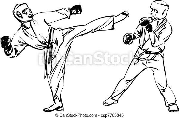 karate kyokushinkai martial arts sports karate - Sports Drawing Pictures