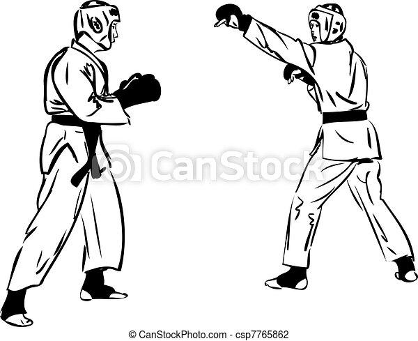 Karate Kyokushinkai  martial arts  sports - csp7765862