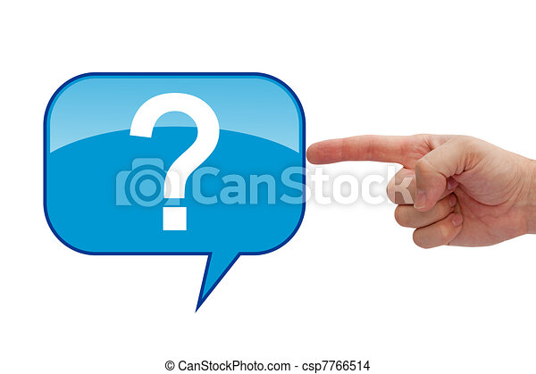 A question mark  - csp7766514