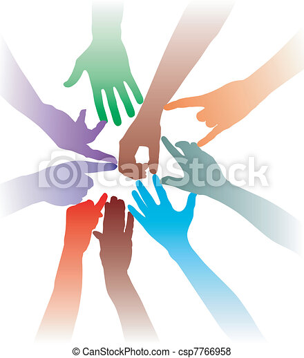 Together, hand in hand - csp7766958