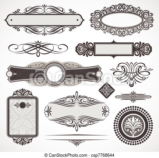 Decorative vector design elements & page decor - csp7768644