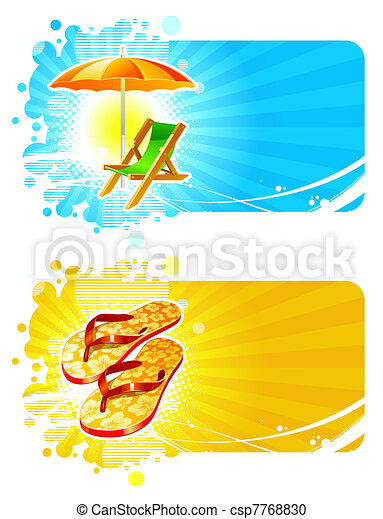 Beach & resorts vector frames - csp7768830