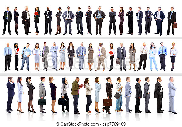 Young attractive business people - the elite business team - csp7769103