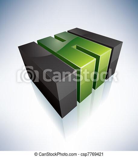 Three-dimensional G Letter - csp7769421