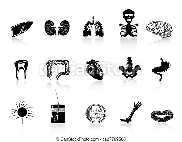 black human anatomy icon - csp7769568