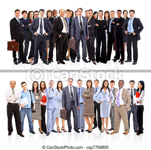 Young attractive business people - the elite business team - csp7769800