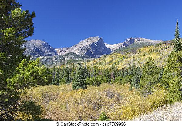 Colorado Rocky Mountains in Fall - csp7769936