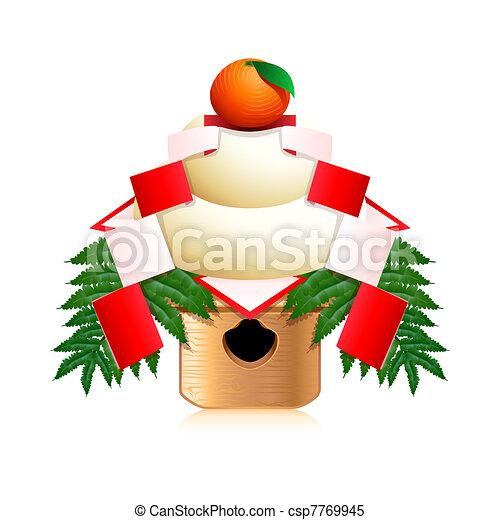 Japanese New Year decoration - csp7769945