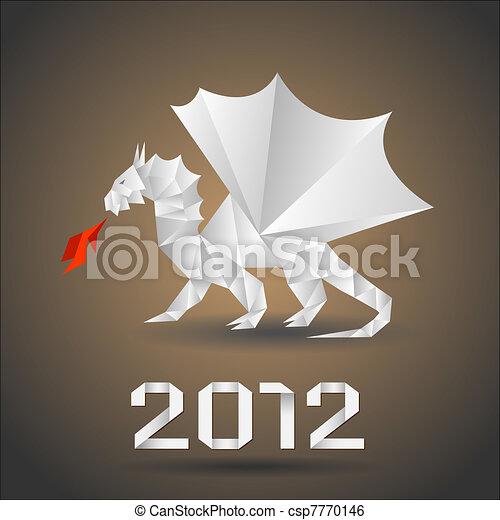 Dragon origami - csp7770146