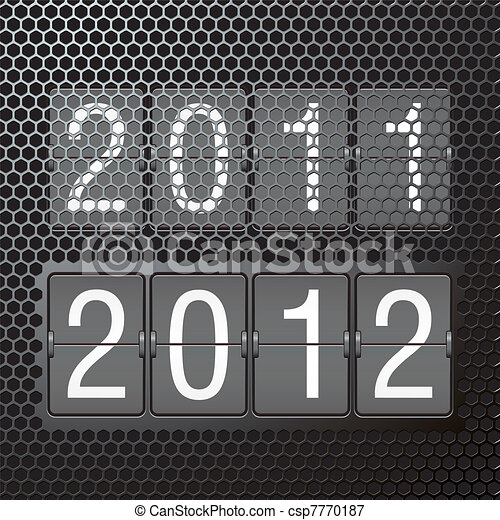 2012 on mechanical scoreboard - csp7770187