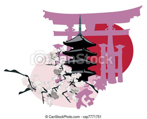 Japanese Landmarks - csp7771751