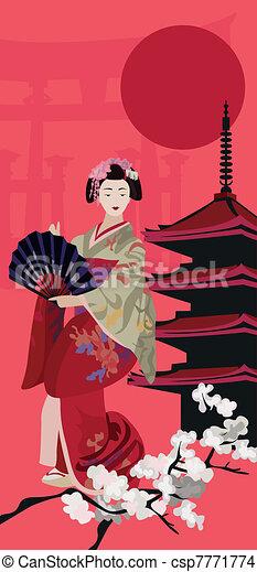 Geisha - csp7771774