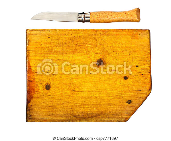 Kitchen knife and the chopping board - csp7771897