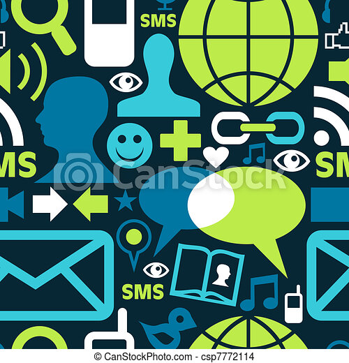 Social media network icons pattern - csp7772114