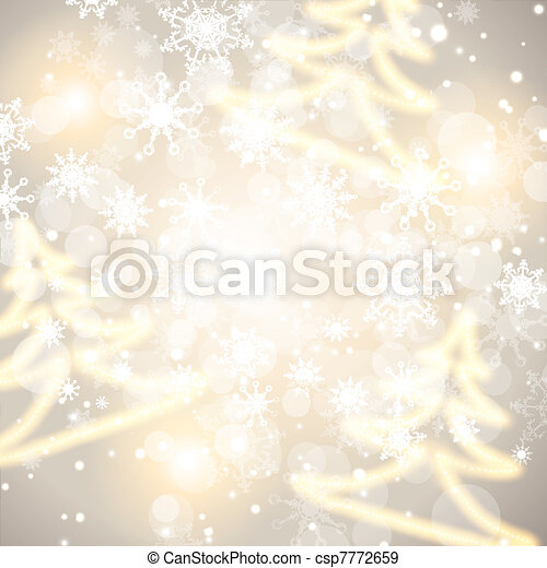 Abstract winter holiday background - csp7772659